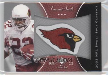 2003 Upper Deck Sweet Spot Classics Embroidered Patch Team Logo #P-ES - Emmitt Smith