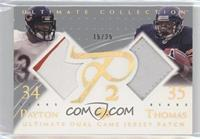 Walter Payton, Anthony Thomas #15/25