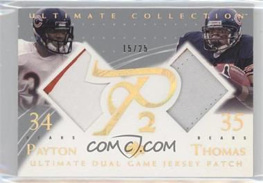 2003 Upper Deck Ultimate Collection [???] #DGP-PT - Walter Payton, Anthony Thomas /25