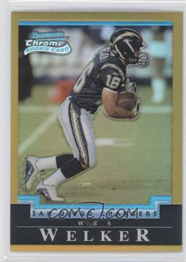 2004 Bowman Chrome - [Base] - Gold Refractor #179 - Wes Welker /50