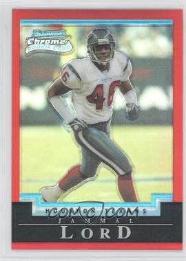 2004 Bowman Chrome - [Base] - Uncirculated Red Refractor #148 - Jammal Lord /210