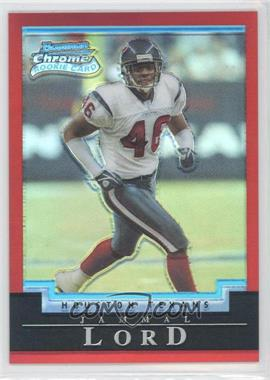 2004 Bowman Chrome Uncirculated Red Refractor #148 - Jammal Lord