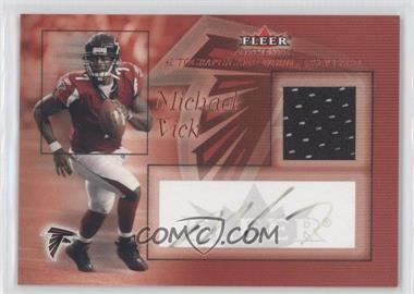 2004 Fleer - Multi-Product Insert Authentic Player Relic Autographs #MIVI.1 - Michael Vick (Red) /100