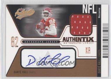 2004 Fleer Authentix Authentix Autograph Jersey Mezzanine Bronze #AJA-DH - Dante Hall /25