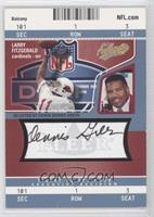 Larry Fitzgerald (Autographed by Dennis Green) /75
