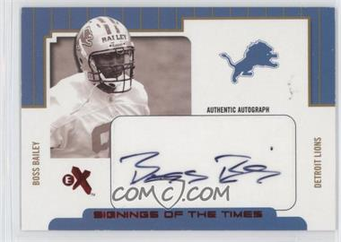 2004 Fleer E-X - Signings Of The Times - Red #STA/BB - Boss Bailey /300