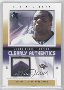 2004 Fleer E-X Clearly Authentics Emerald Patch #CA-JL - Jamal Lewis /5