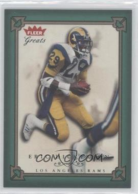 2004 Fleer Greats - [Base] - Green/Red #46 - Eric Dickerson /500