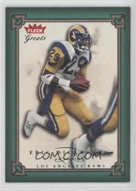 2004 Fleer Greats Green/Red #46 - Eric Dickerson /500