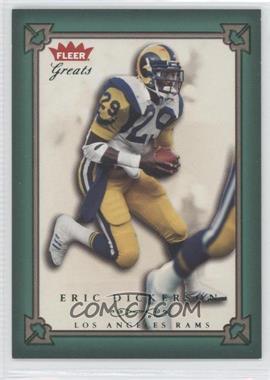 2004 Fleer Greats Green/Red #46 - Eric Dickerson /500