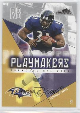 2004 Fleer Showcase - Playmakers #1 PM - Jamal Lewis
