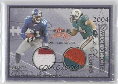 2004 Fleer Sweet Sigs Sweet Stitches Dual Patches #N/A - Amani Toomer, Zach Thomas, Eddie George, Stephen Davis /30
