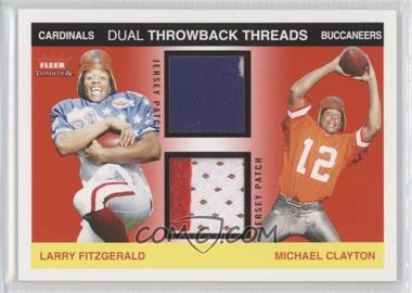 2004 Fleer Tradition Rookie Throwback Threads Dual Jersey Patches #TTD-LF/MC - Larry Fitzgerald, Michael Clayton /75