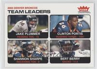Denver Broncos Team, Jake Plummer, Clinton Portis, Shannon Sharpe, Bertrand Ber…