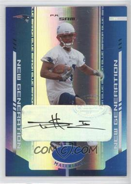 2004 Leaf Certified Materials Mirror Blue Signatures [Autographed] #190 - P.K. Sam