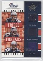 Tom Brady, Bethel Johnson, Ty Law /100