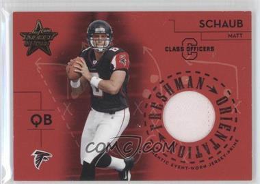 2004 Leaf Rookies & Stars Freshman Orientation Materials Class Officers #FO-30 - Matt Schaub /100