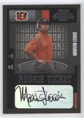 2004 Playoff Contenders - [Base] #200 - Marvin Lewis /585