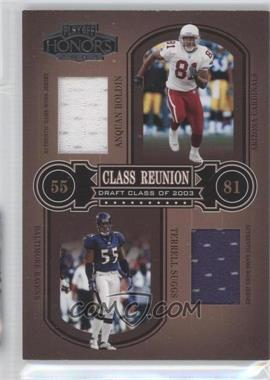 2004 Playoff Honors - Class Reunion - Materials [Memorabilia] #CR-28 - Terrell Suggs, Anquan Boldin /150