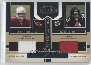 2004 Playoff Honors - Rookie Tandems - Jerseys [Memorabilia] #RT-3 - Larry Fitzgerald, DeAngelo Hall