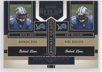 Bernard Berrian, Mewelde Moore, Roy Williams, Kevin Jones /1250