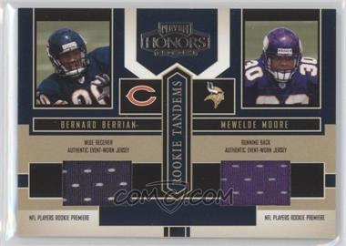2004 Playoff Honors Rookie Tandems Jerseys [Memorabilia] #RT-10 - Bernard Berrian, Mewelde Moore