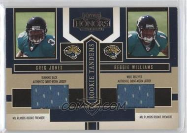 2004 Playoff Honors Rookie Tandems Jerseys [Memorabilia] #RT-11 - Greg Jones, Reggie Williams