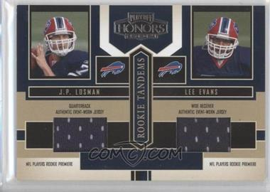 2004 Playoff Honors Rookie Tandems Jerseys [Memorabilia] #RT-13 - J.P. Losman, Lee Evans