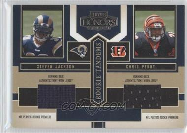 2004 Playoff Honors Rookie Tandems Jerseys [Memorabilia] #RT-15 - Chris Perry, Steven Jackson