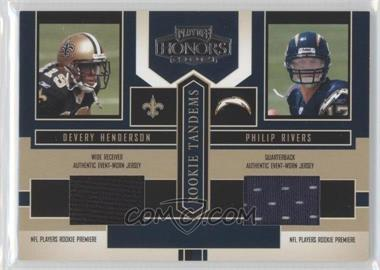 2004 Playoff Honors Rookie Tandems Jerseys [Memorabilia] #RT-5 - Devery Henderson, Philip Rivers