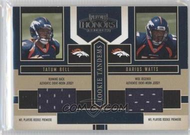 2004 Playoff Honors Rookie Tandems Jerseys [Memorabilia] #RT-6 - Darius Watts, Tatum Bell
