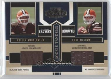 2004 Playoff Honors Rookie Tandems Jerseys [Memorabilia] #RT-8 - Kellen Winslow Jr., Luke McCown