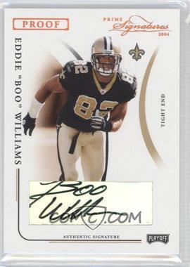 """2004 Prime Signatures - [Base] - Bronze Proof Signatures [Autographed] #60 - Eddie """"Boo"""" Williams /59"""