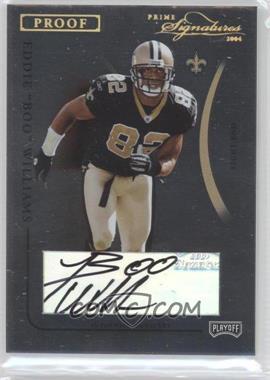 "2004 Prime Signatures - [Base] - Gold Proof Signatures [Autographed] #60 - Eddie ""Boo"" Williams /23"