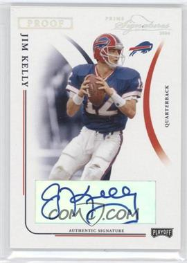 2004 Prime Signatures Silver Proof Signatures [Autographed] #7 - Jim Kelly /25