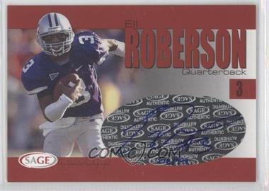 2004 SAGE - Autographs - Red #A33 - Eli Roberson /999