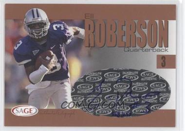 2004 SAGE [???] #A33 - Eli Roberson /650
