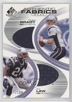 Tom Brady, Ty Law /100