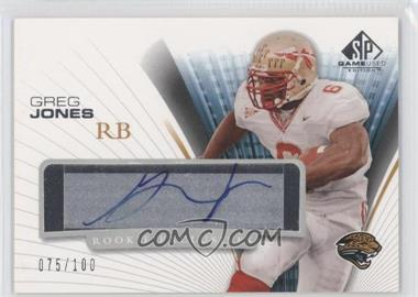 2004 SP Game Used Edition Rookie Exclusives Autographs #RE-GJ - Greg Jones /100