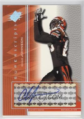 2004 SPx Super Scripts [Autographed] #SS-CJ - Chad Johnson
