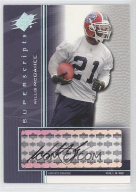 2004 SPx Super Scripts [Autographed] #SS-WM - Willis McGahee