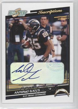 2004 Score Inscriptions [Autographed] #265 - Antonio Gates