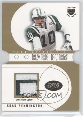 2004 Skybox L.E. - Rare Form - Gold Patches [Memorabilia] #RF-CP - Chad Pennington /25