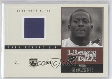 2004 Skybox L.E. L.E.gends of the Draft Jerseys Gold Patches #LD-WM - Willis McGahee /25