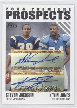 2004 Topps - 2004 Premiere Prospects Dual Autographs #PPD-JJ - Steven Jackson /50