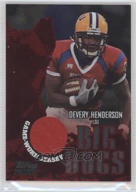2004 Topps Draft Picks & Prospects - Big Dogs Senior Bowl Relics - Silver Foilboard #BD-DH - Devery Henderson /100