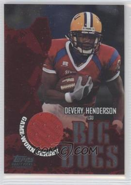 2004 Topps Draft Picks & Prospects Big Dogs Senior Bowl Relics Silver Foilboard #BD-DH - Devery Henderson /100
