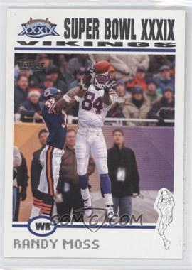 2004 Topps Super Bowl XXXIX Card Show #3 - Randy Moss