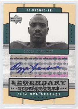 2004 Upper Deck NFL Legends - Legendary Signatures #LS-ON - Ozzie Newsome