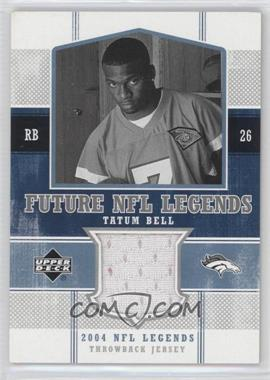 2004 Upper Deck NFL Legends Future NFL Legends Throwbacks #FLT-TB - Tatum Bell